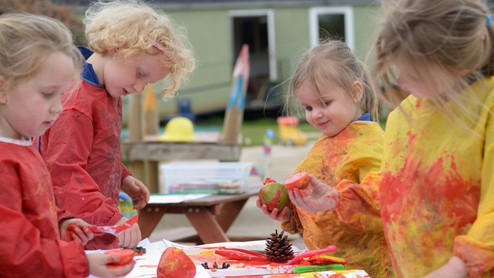 outdoor painting in a group