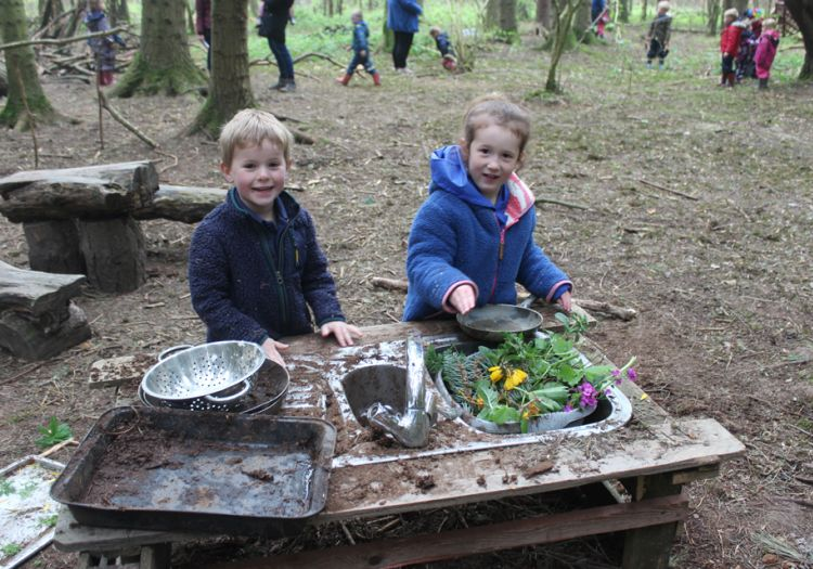Forest School, 10 years, outdoor learning potion making