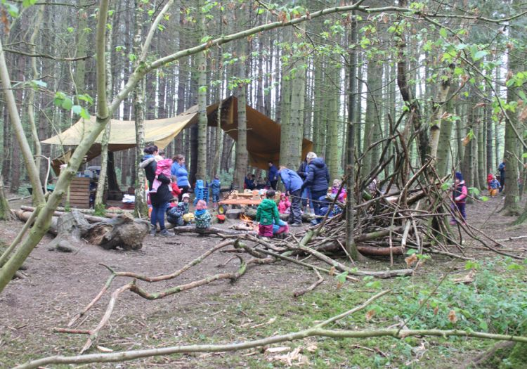 Forest School, 10 years, outdoor learning,  whole nursery