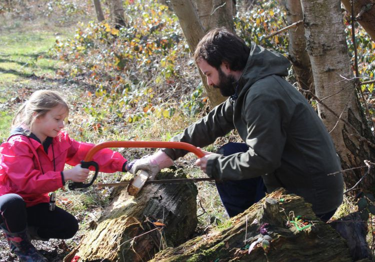 using tools on forest school