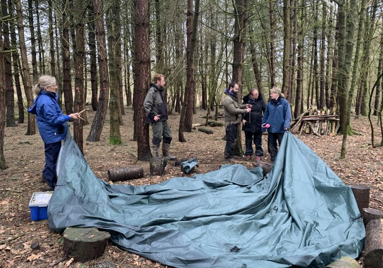 shelter building training session