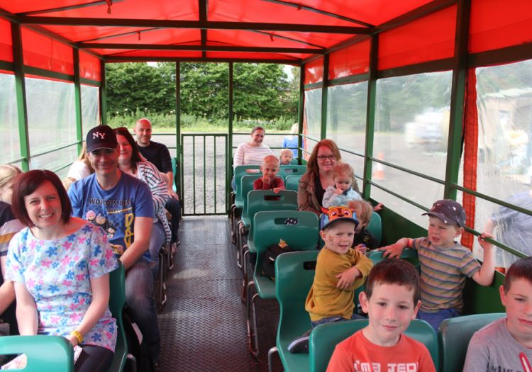 Tractor and trailer ride, woodlands, farmland, openday2018